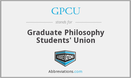 GPCU - Graduate Philosophy Students' Union