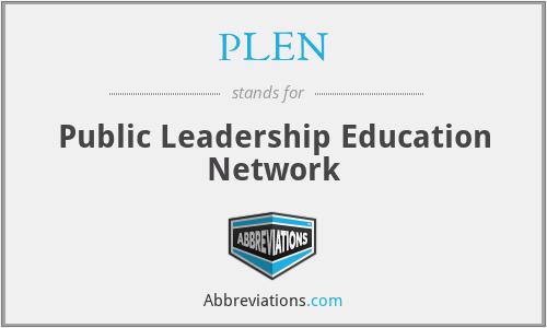 PLEN - Public Leadership Education Network