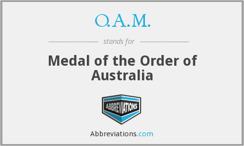 O.A.M. - Medal of the Order of Australia