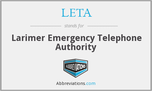 LETA - Larimer Emergency Telephone Authority