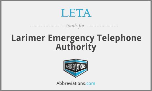 LETA - Larimer Emergency Telephone Authority
