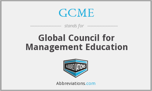 GCME - Global Council for Management Education