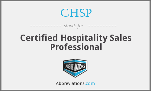 CHSP - Certified Hospitality Sales Professional