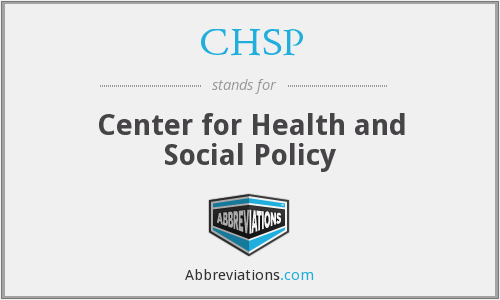 CHSP - Center for Health and Social Policy