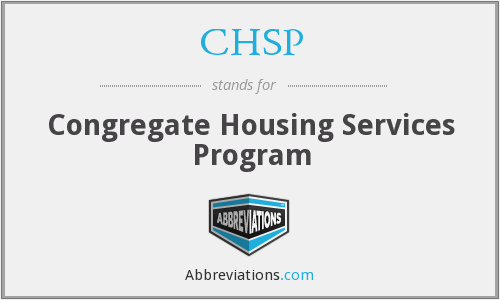 CHSP - Congregate Housing Services Program