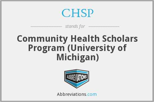 CHSP - Community Health Scholars Program (University of Michigan)