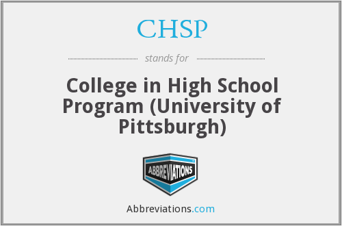 CHSP - College in High School Program (University of Pittsburgh)
