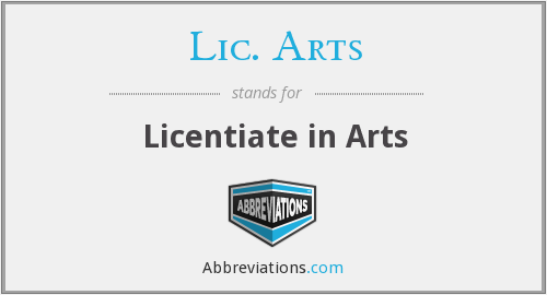 What does LIC. ARTS stand for?