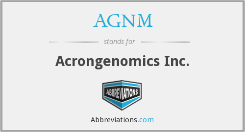 AGNM - Acrongenomics Inc.