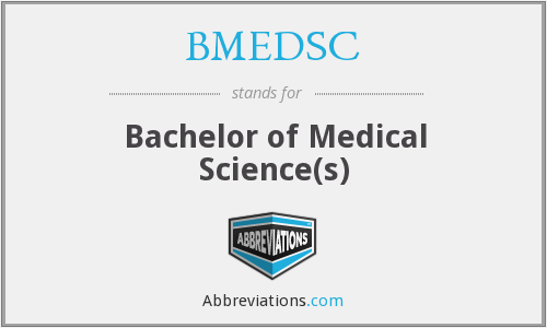 What does BMEDSC stand for?