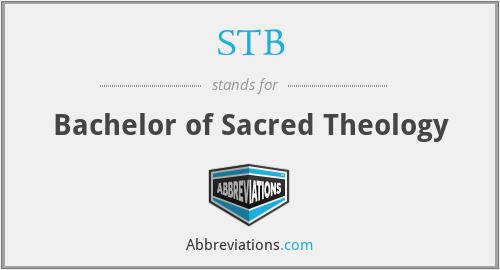 STB - Bachelor of Sacred Theology