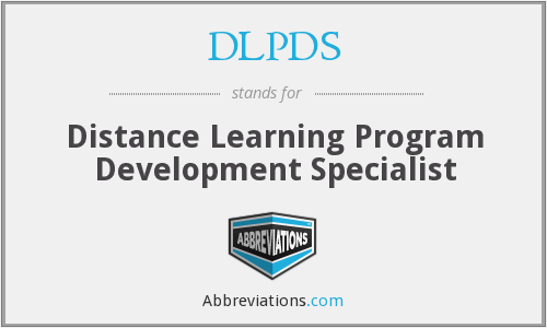 DLPDS - Distance Learning Program Development Specialist