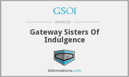 GSOI - Gateway Sisters Of Indulgence