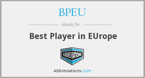 BPEU - Best Player in EUrope