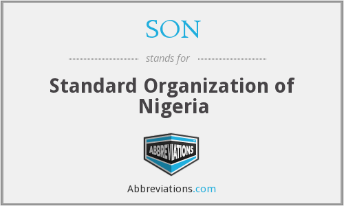 SON - Standard Organization of Nigeria