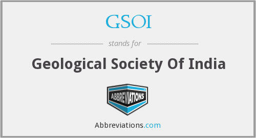 GSOI - Geological Society Of India