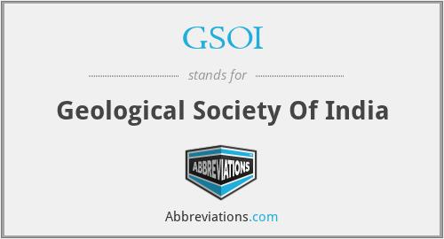 GSOI - Geological Society Of India
