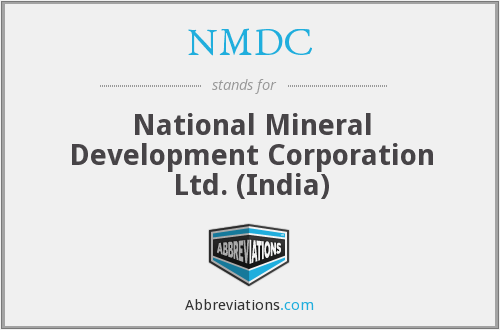 NMDC - National Mineral Development Corporation Ltd. (India)