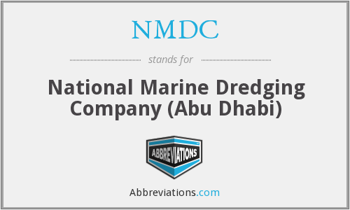 What is the abbreviation for National Marine Dredging