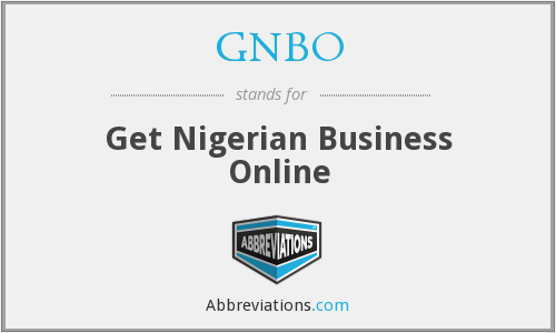 GNBO - Get Nigerian Business Online