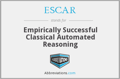 ESCAR - Empirically Successful Classical Automated Reasoning