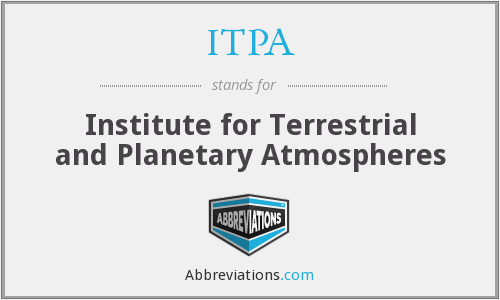 ITPA - Institute For Terrestrial And Planetary Atmospheres