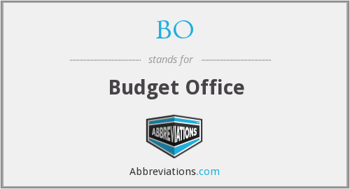 BO - Budget Office