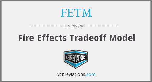 FETM - Fire Effects Tradeoff Model