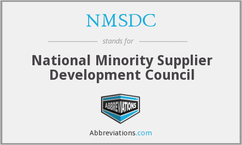 What does NMSDC stand for?