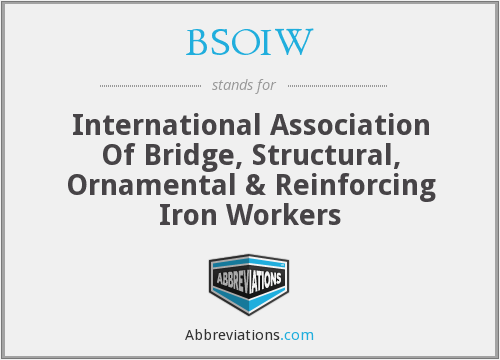 BSOIW - International Association Of Bridge, Structural, Ornamental & Reinforcing Iron Workers