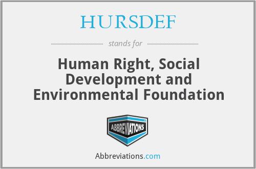 HURSDEF - Human Right, Social Development and Environmental Foundation