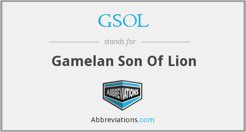 GSOL - Gamelan Son Of Lion