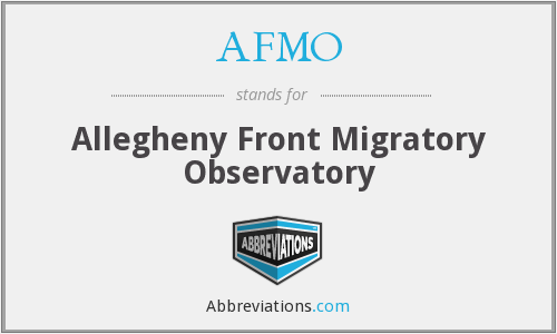 AFMO - Allegheny Front Migratory Observatory