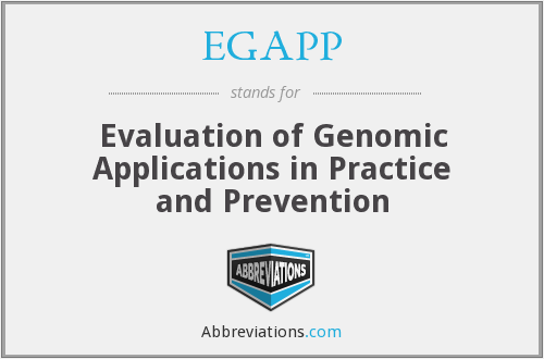 EGAPP - Evaluation of Genomic Applications in Practice and Prevention