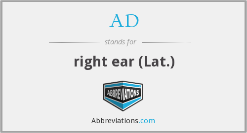 What does A.D. stand for?