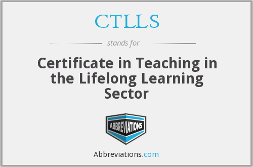 CTLLS - Certificate in Teaching in the Lifelong Learning Sector
