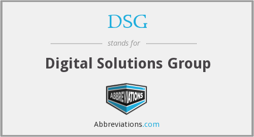 DSG - Digital Solutions Group