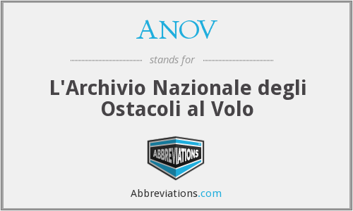 ANOV - L'Archivio Nazionale degli Ostacoli al Volo
