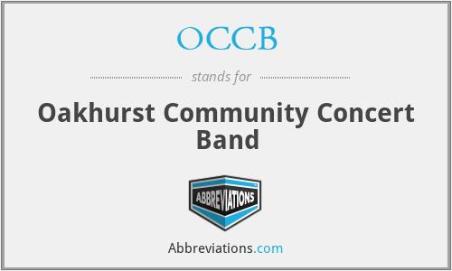 OCCB - Oakhurst Community Concert Band