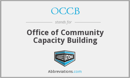 OCCB - Office of Community Capacity Building