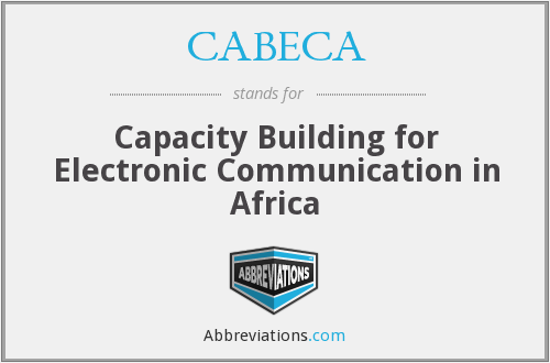 CABECA - Capacity Building for Electronic Communication in Africa