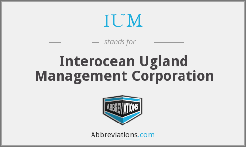 IUM - Interocean Ugland Management Corporation
