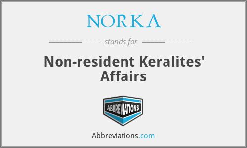 NORKA - Non-resident Keralites' Affairs