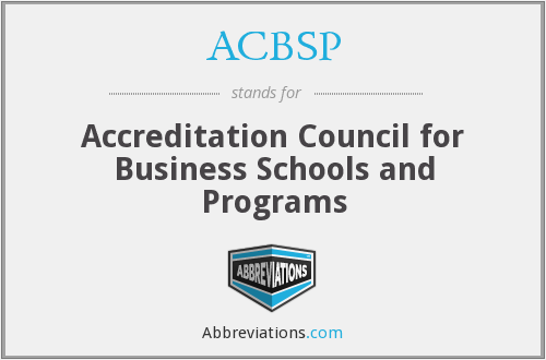ACBSP - Accreditation Council for Business Schools and Programs