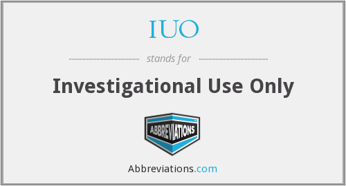 What does IUO stand for?