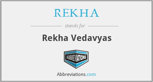 REKHA - Rekha Vedavyas