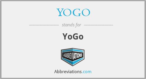 YOGO - YoGo