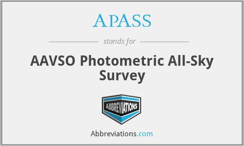 APASS - AAVSO Photometric All-Sky Survey