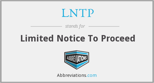 What does LNTP stand for?