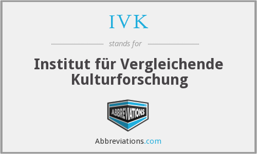 IVK - Institut für Vergleichende Kulturforschung